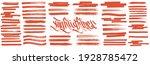 orange highlight brush lines.... | Shutterstock .eps vector #1928785472