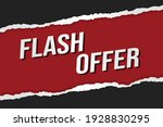 flash offer word concept vector ...
