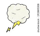 cartoon thundercloud symbol   Shutterstock . vector #192885308