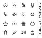 pet icons set vector graphic... | Shutterstock .eps vector #1928866385