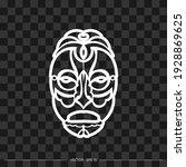 tiki mask. sample of maori or...   Shutterstock .eps vector #1928869625