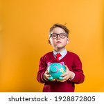 little boy in glasses and tie...   Shutterstock . vector #1928872805