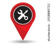 pin pointer location with...   Shutterstock .eps vector #1928889722
