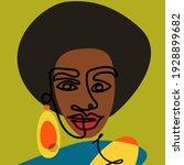 portrait of an african woman in ... | Shutterstock .eps vector #1928899682