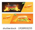 burger fastfood set of two...   Shutterstock .eps vector #1928903255
