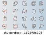 icon set of medical instrument...