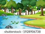 Nature Forest Landscape Scene...
