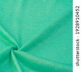 Green Woolen Fabric. Emerald...