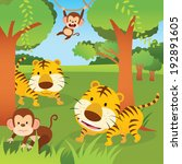 jungle animals. vector...   Shutterstock .eps vector #192891605
