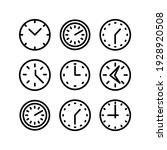 clock  icon or logo isolated...