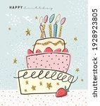 happy birthday greeting card...   Shutterstock .eps vector #1928923805