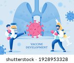male scientists with vaccine... | Shutterstock .eps vector #1928953328