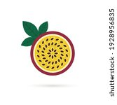 cartoon passion fruit or...   Shutterstock .eps vector #1928956835
