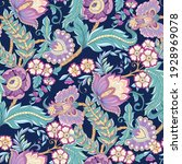 seamless pattern with stylized... | Shutterstock .eps vector #1928969078