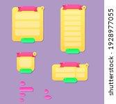 game ui set cartoon colorful...
