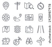 set of navigation icon.... | Shutterstock .eps vector #1928987978