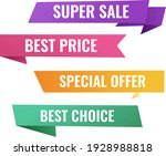 sale origami banner with white... | Shutterstock .eps vector #1928988818