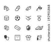 soccer vector black icon set on ... | Shutterstock .eps vector #192901868