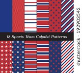 red  white and blue sports team ... | Shutterstock .eps vector #192903542