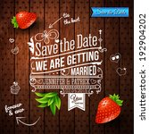 save the date for personal... | Shutterstock .eps vector #192904202