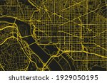 black and yellow vector city... | Shutterstock .eps vector #1929050195