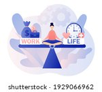 work and life balance. tiny...   Shutterstock .eps vector #1929066962