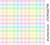 rainbow gingham plaid. seamless ... | Shutterstock .eps vector #1929068798
