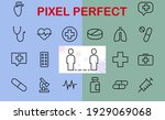 a simple set of medicine icons  ... | Shutterstock .eps vector #1929069068