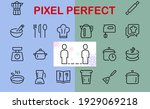set of icons for cooking and... | Shutterstock .eps vector #1929069218