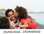 Happy African Family Having Fun ...