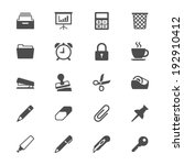 office supplies flat icons | Shutterstock .eps vector #192910412