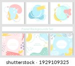 abstract cute pastel background ... | Shutterstock .eps vector #1929109325