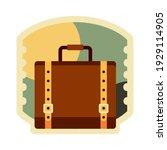 suitcase travel sticker vector... | Shutterstock .eps vector #1929114905