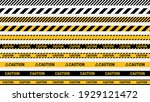 caution tape  police line and... | Shutterstock .eps vector #1929121472