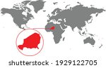 niger map. isolated world map. ...   Shutterstock .eps vector #1929122705