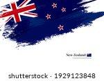 stylish brush flag of new...   Shutterstock .eps vector #1929123848