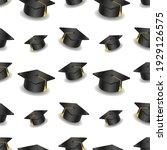 graduation cap emoji pattern....   Shutterstock .eps vector #1929126575