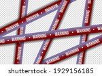 red and white lines of barrier...   Shutterstock .eps vector #1929156185