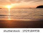 Sunset On Zushi Beach  Kanagawa ...