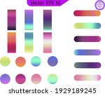 circle gradient. neon sphere... | Shutterstock .eps vector #1929189245