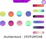 circle gradient. neon sphere... | Shutterstock .eps vector #1929189248