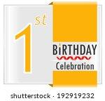1st birthday celebration card... | Shutterstock .eps vector #192919232