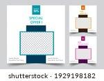 social media post templates.... | Shutterstock .eps vector #1929198182