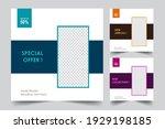 social media post templates.... | Shutterstock .eps vector #1929198185