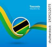 artistic wavy flag for tanzania ...   Shutterstock .eps vector #1929212075