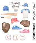 Watercolor Baseball Set ...