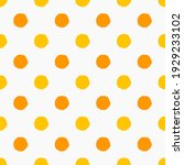 yellow and orange doodle polka...   Shutterstock .eps vector #1929233102