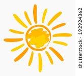 sun symbol painted. vector... | Shutterstock .eps vector #192924362