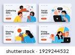set of presentation slide... | Shutterstock .eps vector #1929244532