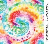 Vector Tie Dye Swirl. Rainbow...